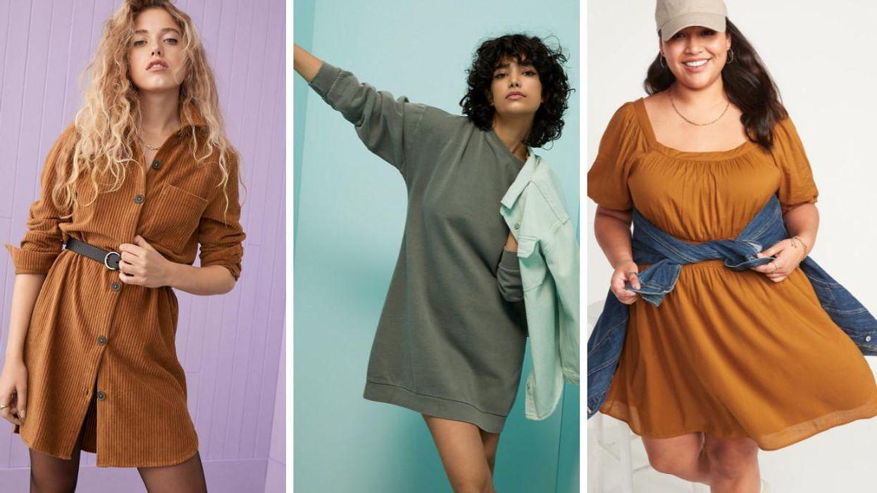 18 Fall Dresses Under $50 That'll Keep Canadians Cute & Cozy All Season Long