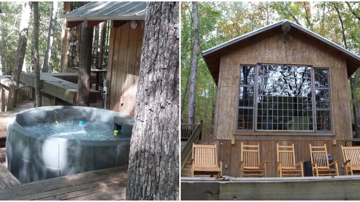 A Charming Alabama Cabin Airbnb In The Woods Has A Hot Tub