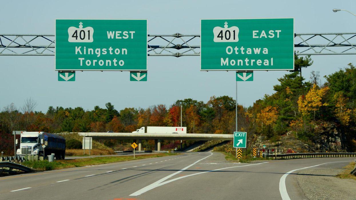 A Crash On Highway 401 Left Two People Dead After Several Transport Trucks Collided