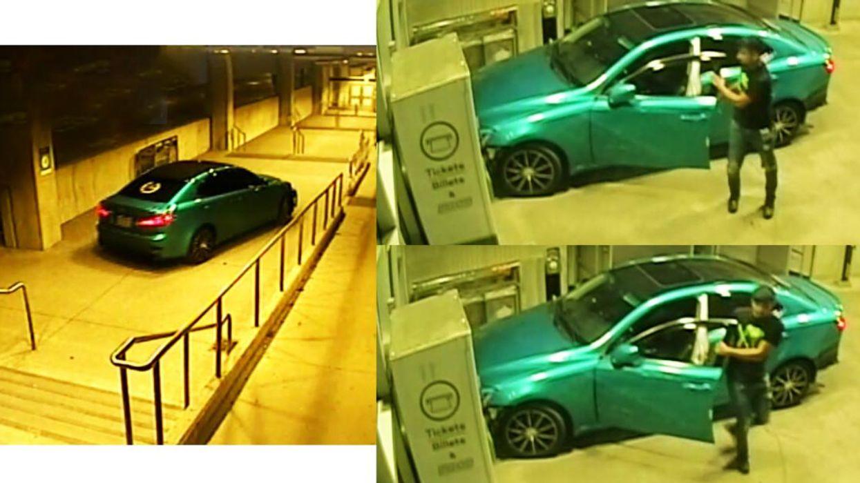 A Man Drove His Car Through An Ajax GO Station Walkway & Left Behind His Bumper