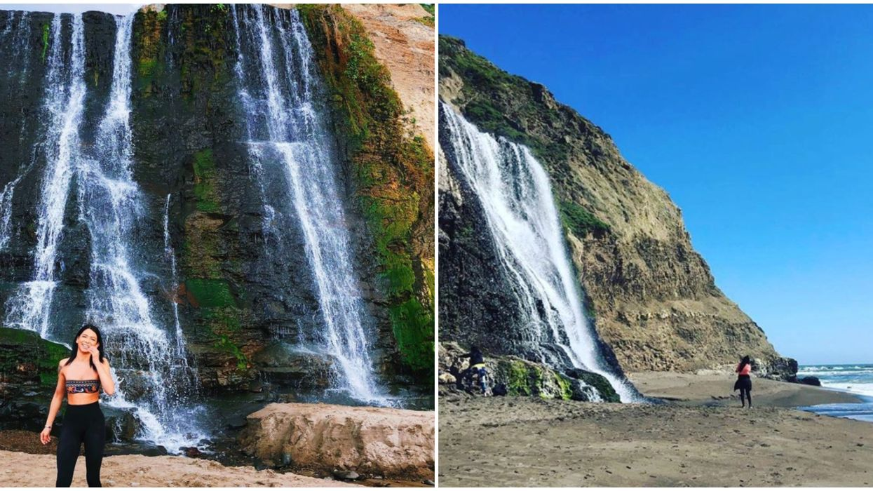 Alamere Falls In California Is A Secret Waterfall On The Beach