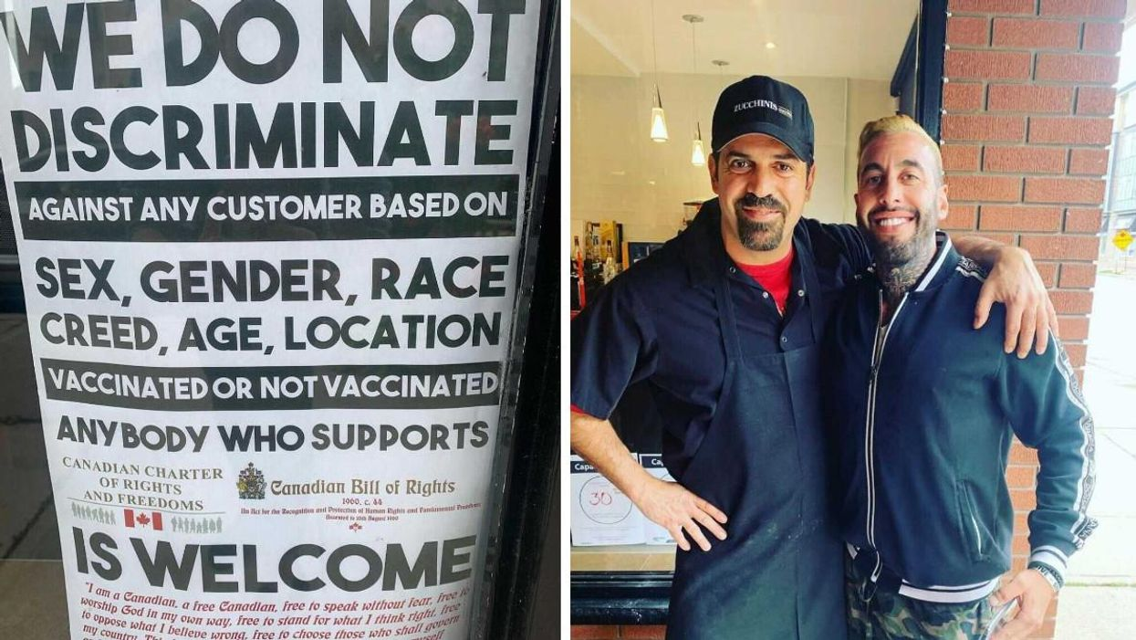 An Oakville Resto Posted A Notice Saying It Welcomes Diners Who Aren't Vaccinated