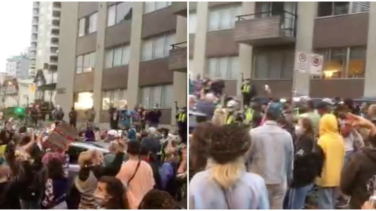 Anti-Gay Preacher Came To Vancouver & Was Drowned Out By A Massive Dance Party