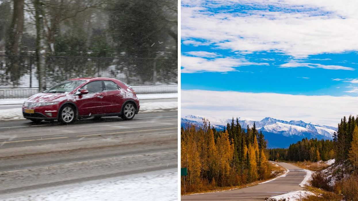 BC's First Winter Storm Dumped Snow Almost Everywhere & It Felt Way Too Soon