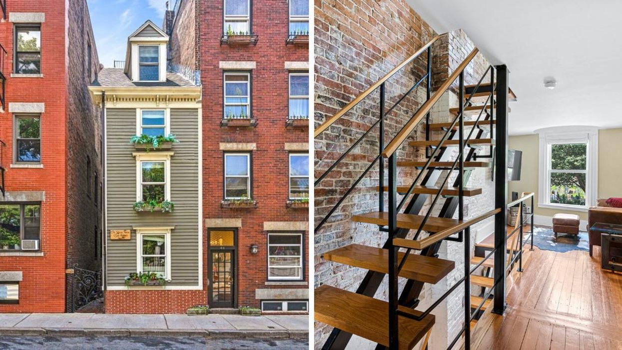Boston's Famous Skinny House Just Sold For $1.25 Million & It's Super Narrow Inside (PHOTOS)