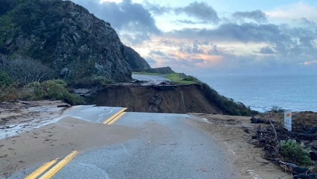 California Highway 1 Pacific Coast Highway Collapse