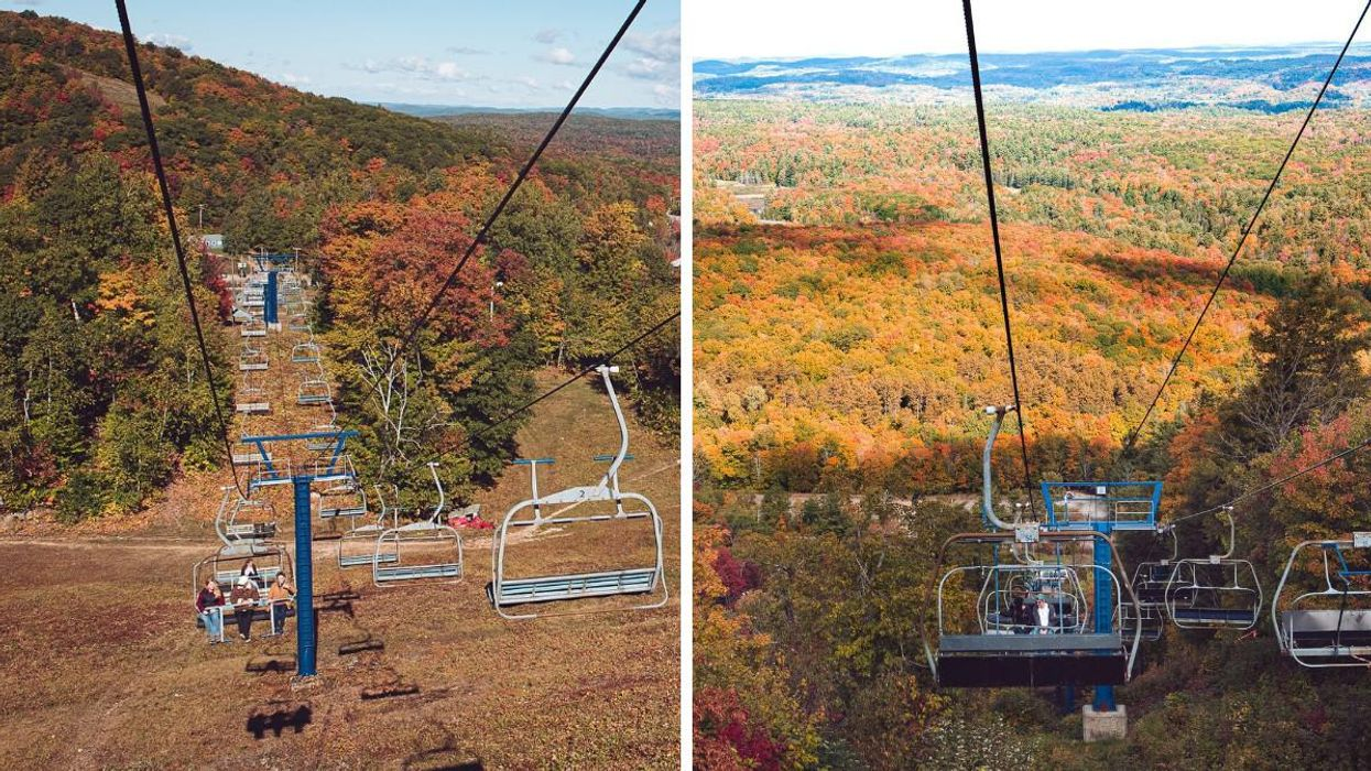 Camp Fortune's Scenic Chairlift Near Ottawa Will Have You Soaring Over The Fall Colours