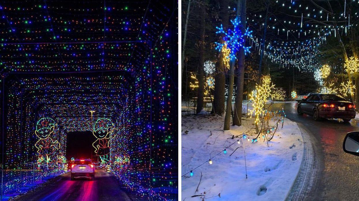 Ce parcours de lumières féérique débarque à 2 h 15 de Montréal pour la période des Fêtes