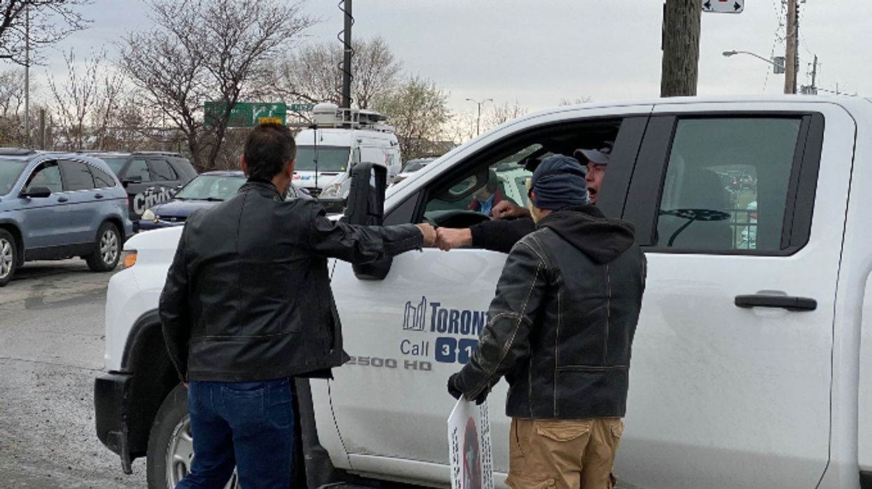 City Of Toronto Employee Caught Cheering For Anti-Maskers In His Work Truck (VIDEO)