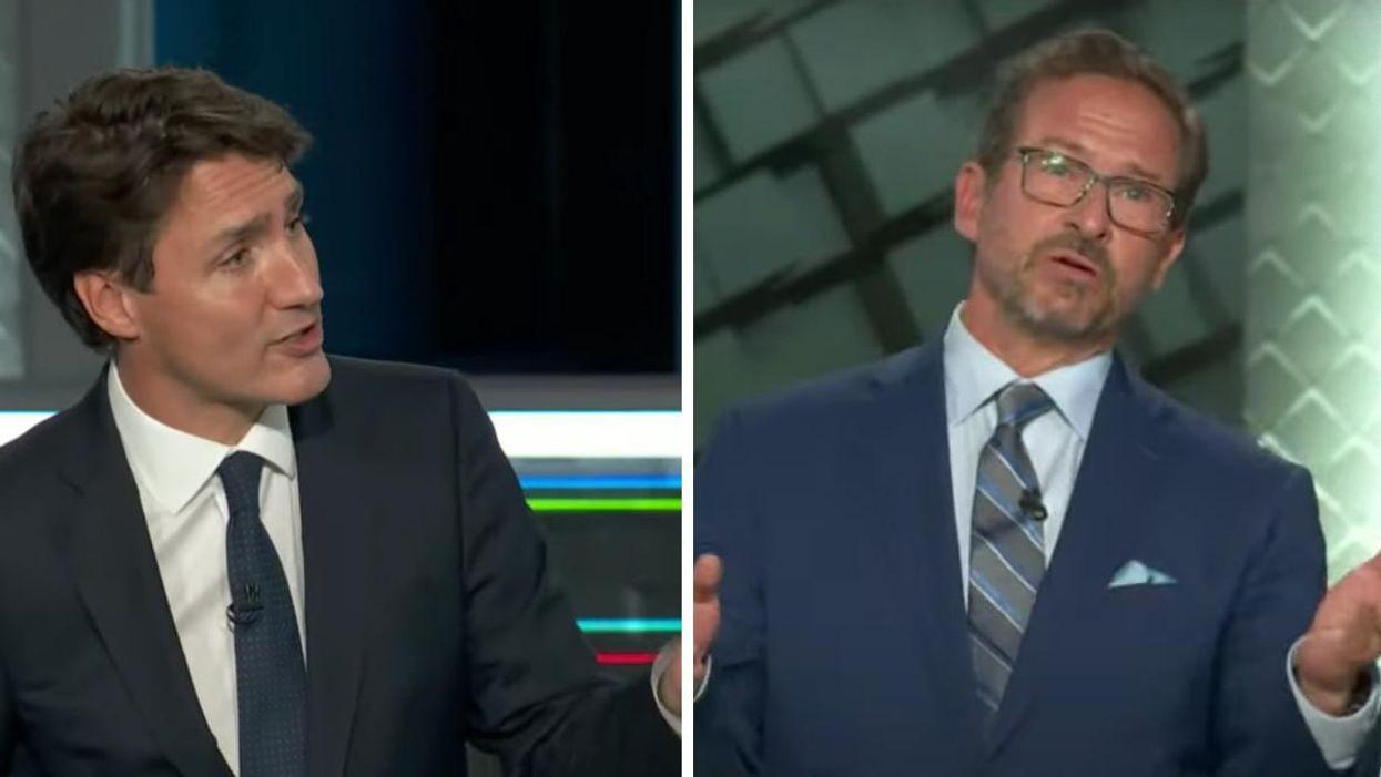 Débat des chefs: Justin Trudeau « pète sa coche » contre Yves-François Blanchet (VIDÉO)