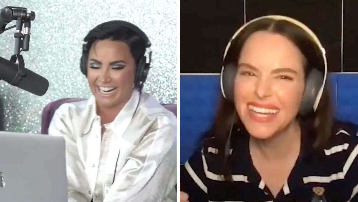 Demi Lovato Asked 'Schitt's Creek' Star Emily Hampshire On A Date & Was Totally Shut Down
