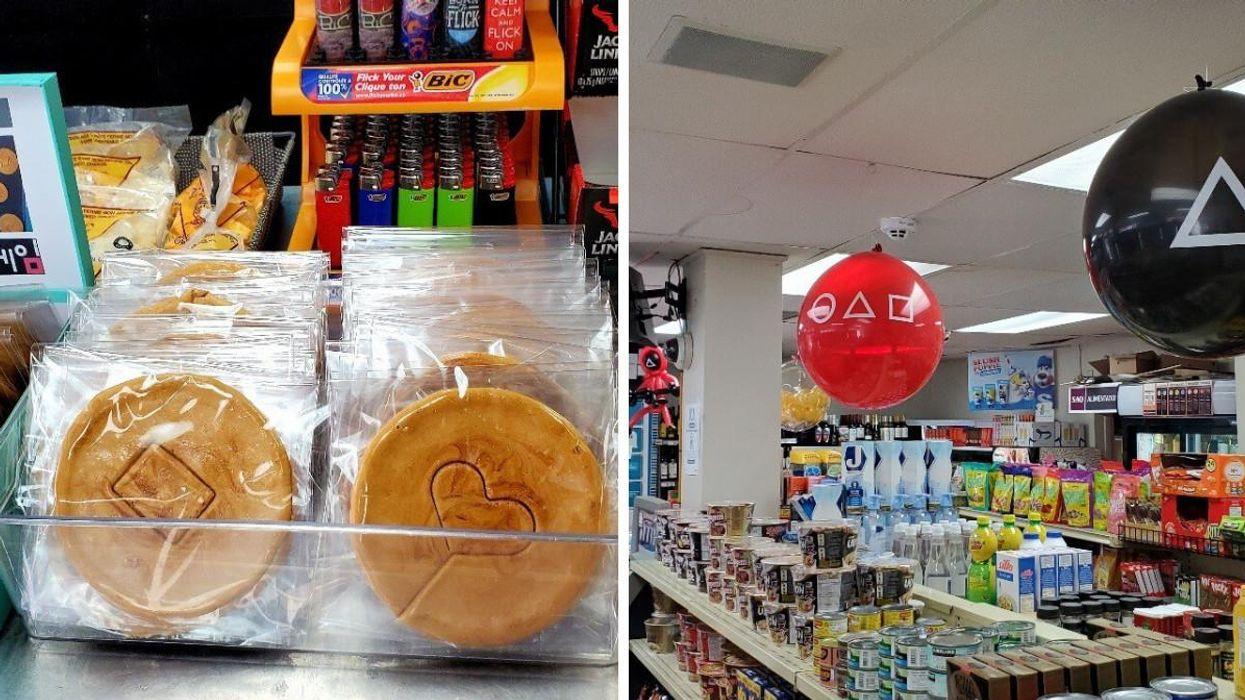 Des bonbons Squid Game sont vendus dans ce dep à Montréal et les clients se les arrachent