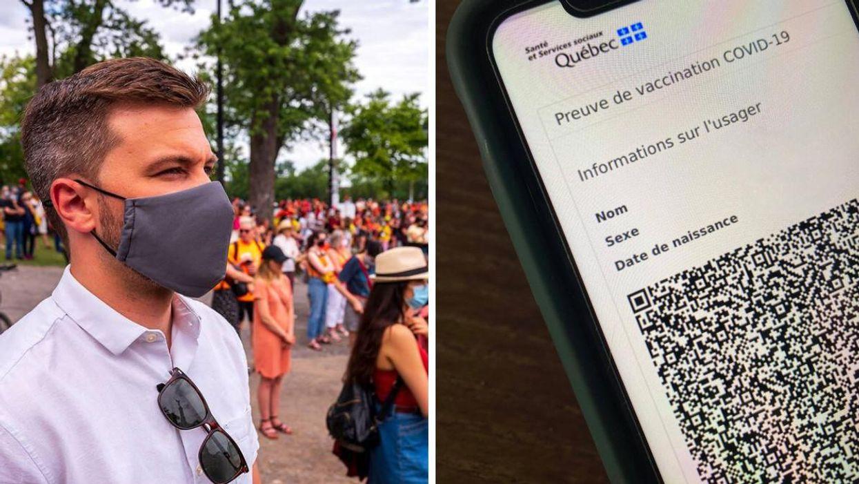 Des codes QR piratés au Québec et Gabriel Nadeau-Dubois réagit
