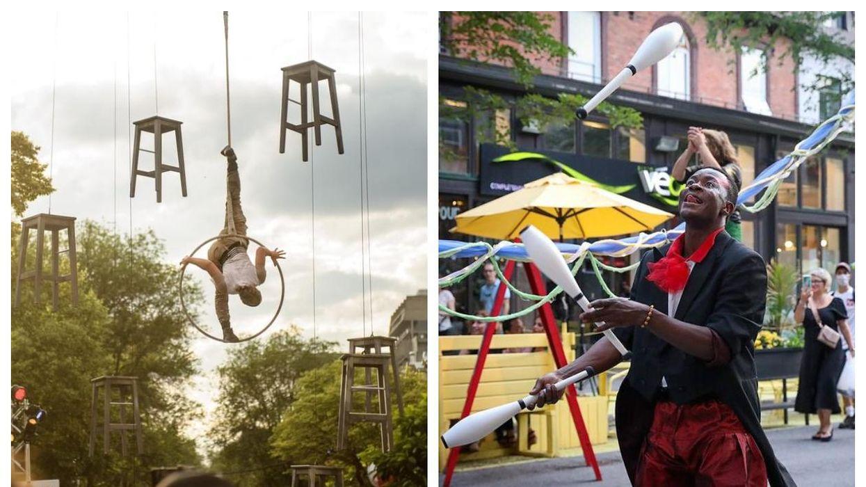 Des spectacles de cirque gratuits débarquent dans le Vieux-Montréal