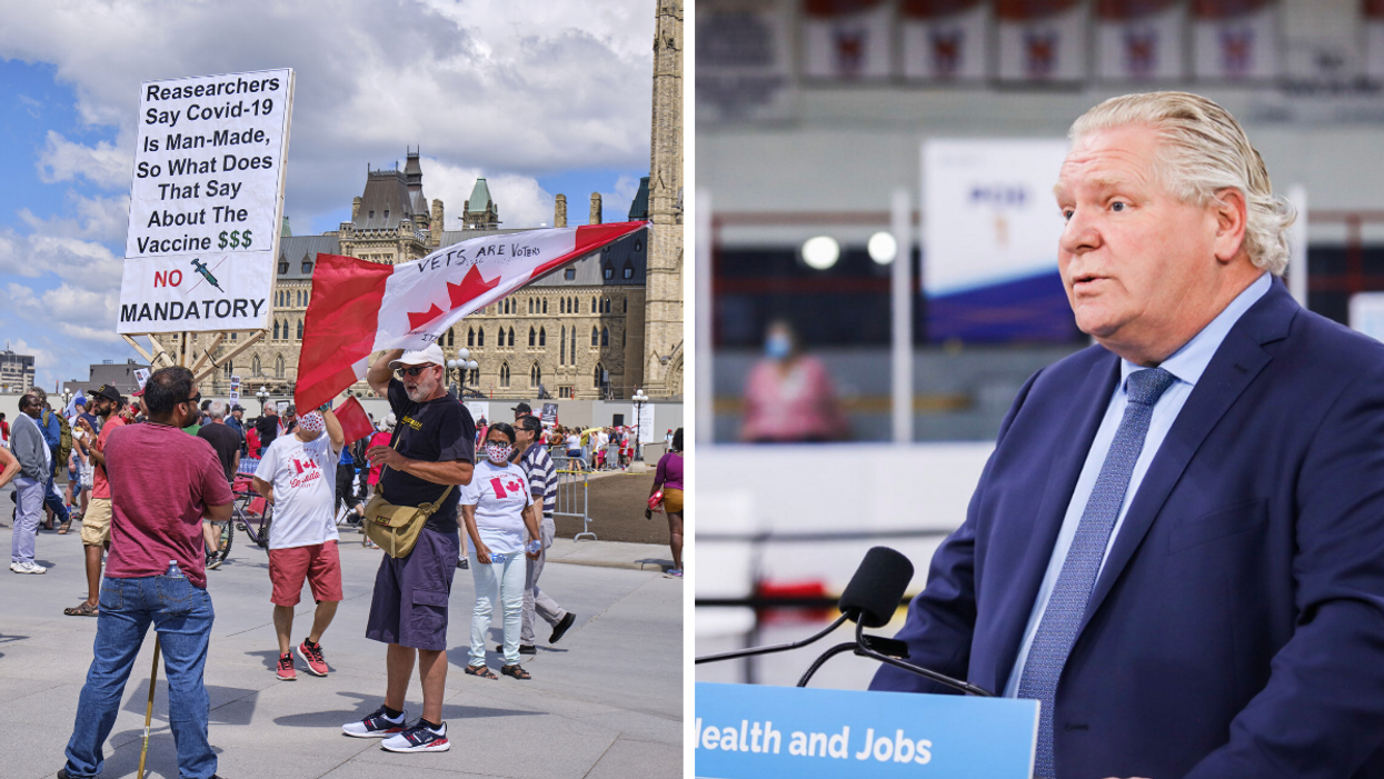 Doug Ford Calls Anti-Vaccine Protests At Ontario Hospitals 'Selfish' & 'Reckless'