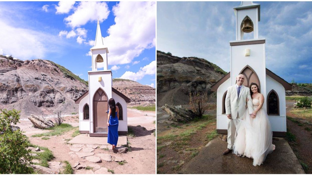 Drumheller's Little Church Is The Perfect Place For A COVID-19 Wedding