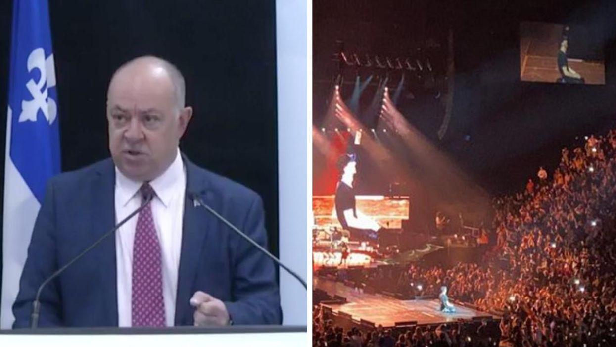 Dubé réagit à l'énorme foule vue au show d'Enrique Iglesias et Ricky Martin au Centre Bell