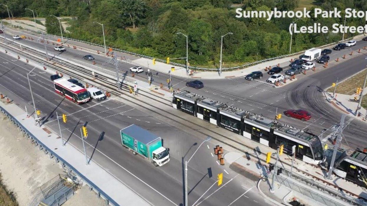 Eglinton LRT Vehicles Are Finally Being Tested On The Tracks