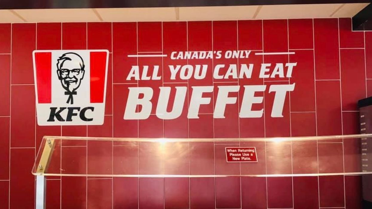 An All You Can Eat KFC Buffet Exists In Canada But It's In A Super Random Spot