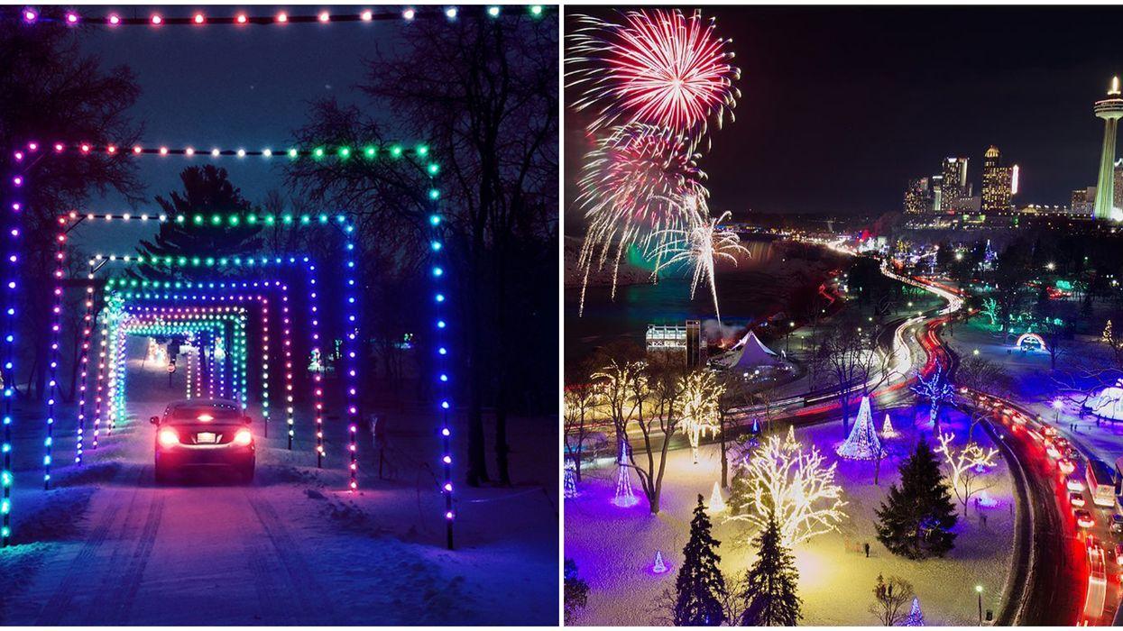 9 Drive-Thru Christmas Light Festivals Near Toronto That You Can Enjoy From Your Car