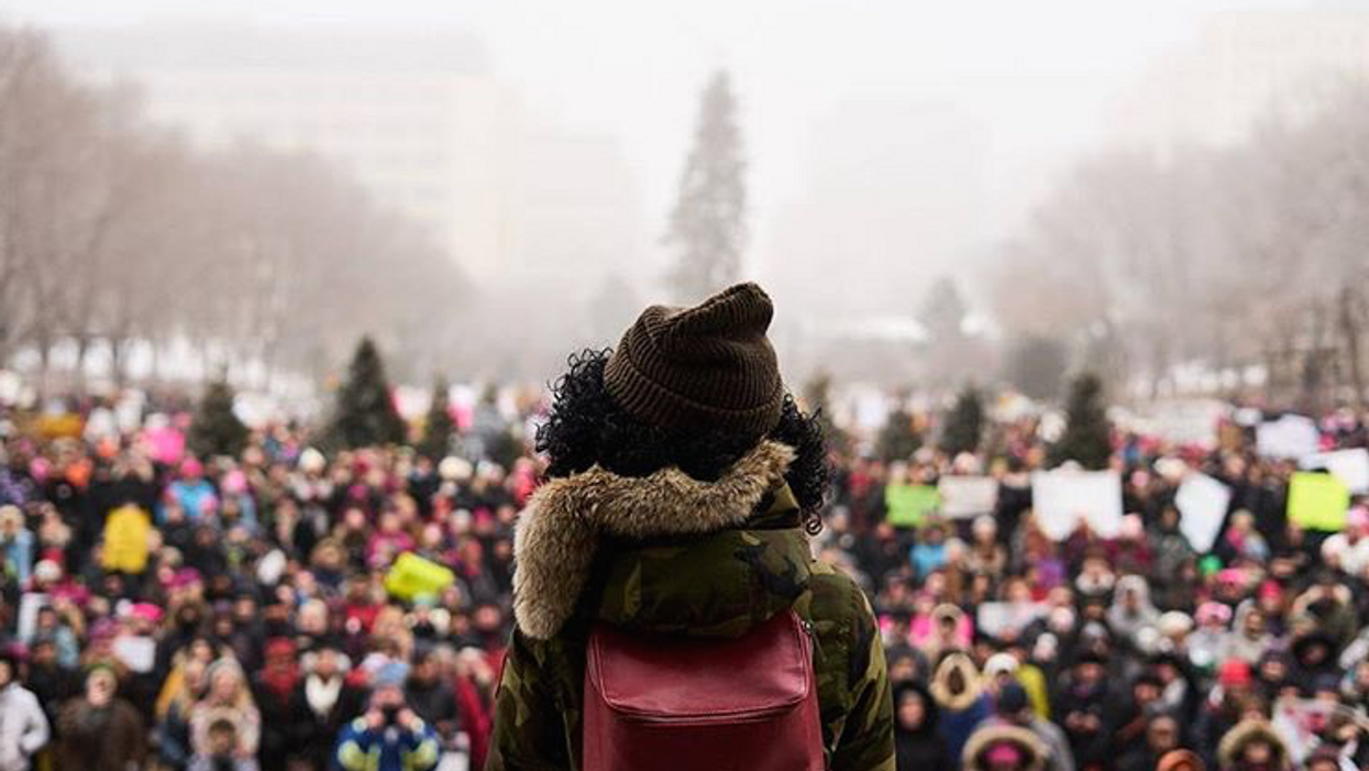 23 Inspiring Photos from Edmonton's Women's March That Will Motivate Your Monday