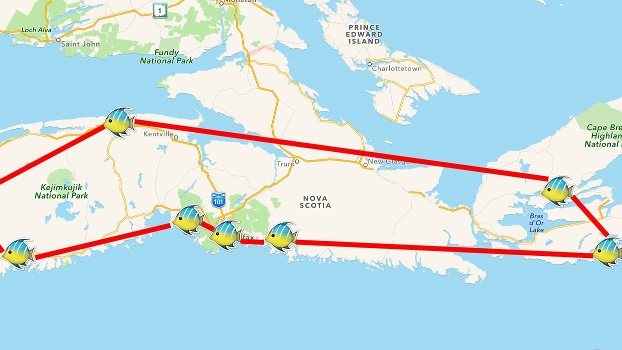 This Map Will Take You On The Ultimate Seafood Road Trip Through Nova Scotia