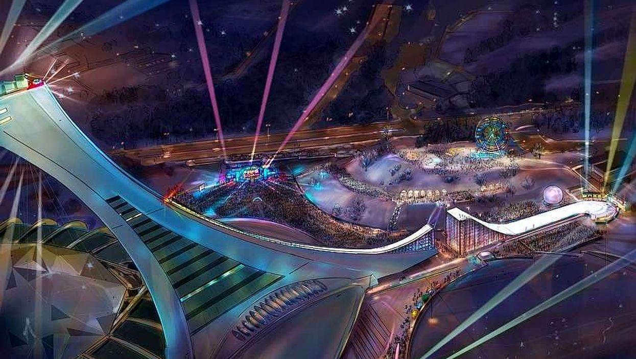 Le Stade Olympique sera transformé en rampe de ski