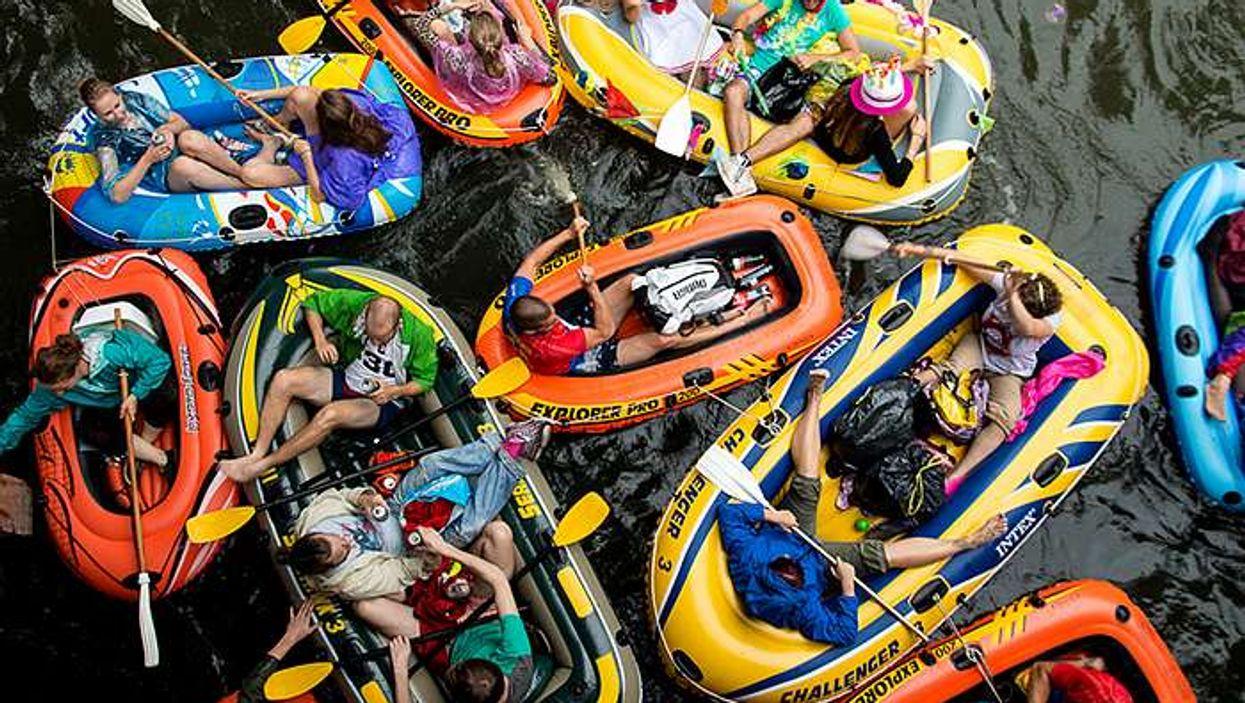 Un gros pique-nique sur bateaux gonflables aura lieu sur le canal Lachine en août