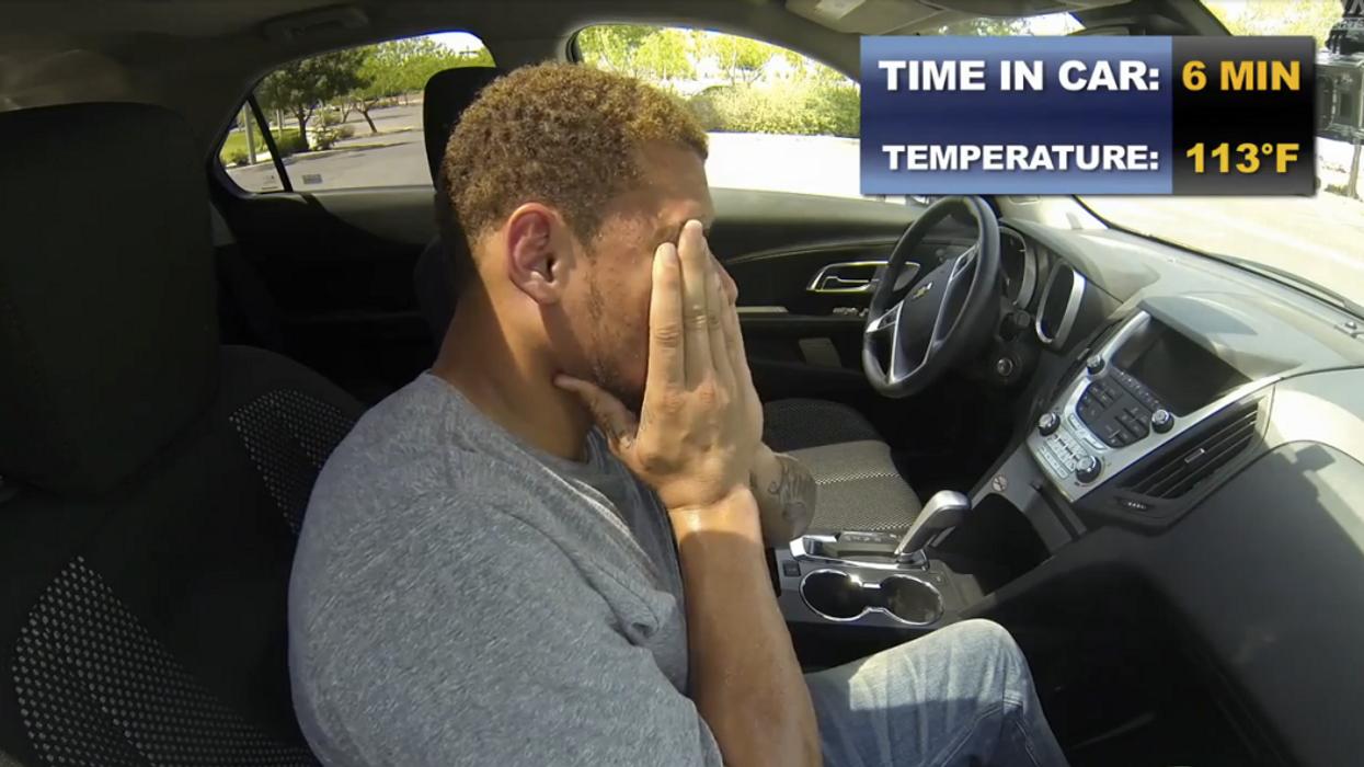 Un joueur de la NFL s'enferme dans une voiture lors d'une journée de chaleur extrême
