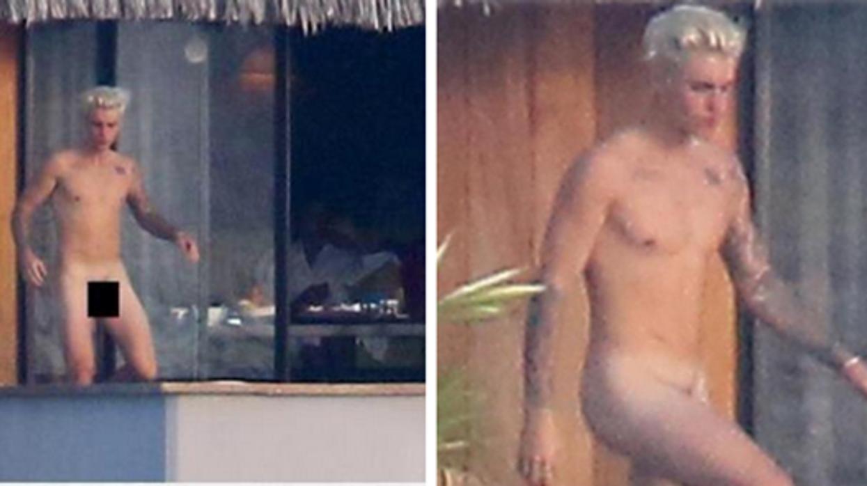 Justin Bieber flambant nu dans une piscine à Bora Bora