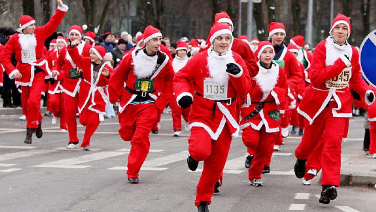 La première course de Pères Noël aura lieu à Montréal ce week-end!