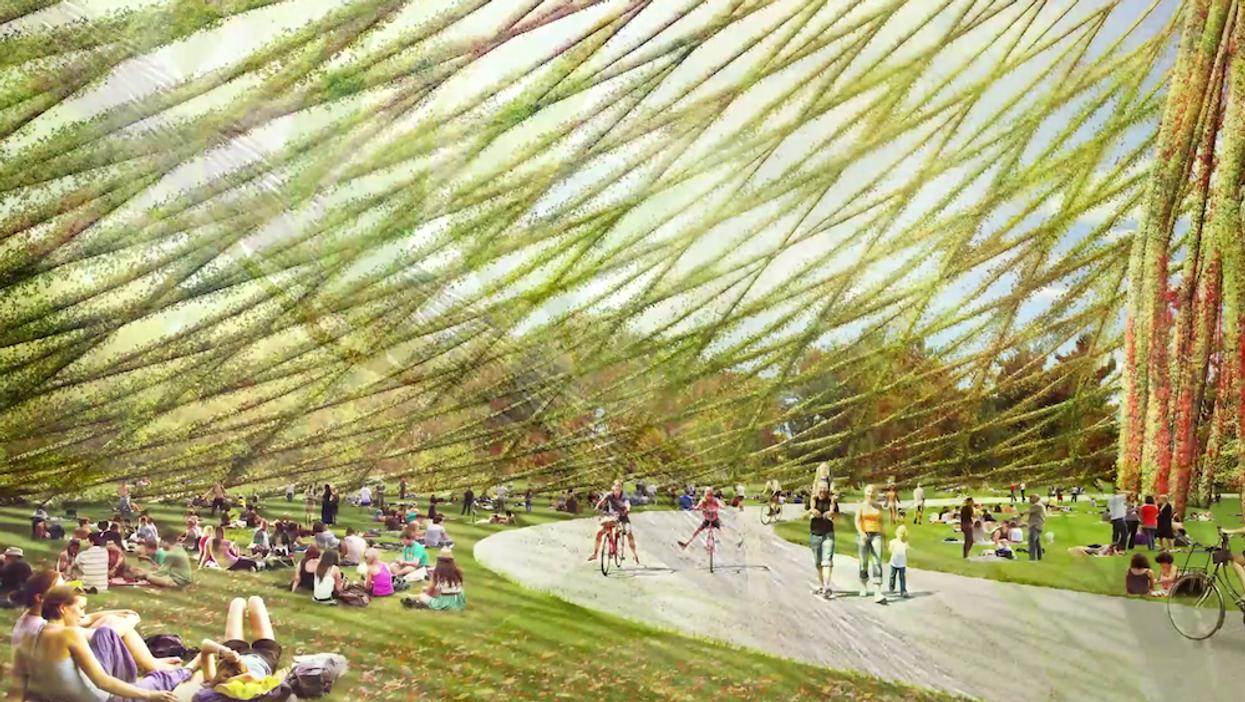 Un jardin en dôme pourrait recouvrir le parc Jean-Drapeau dès cet été