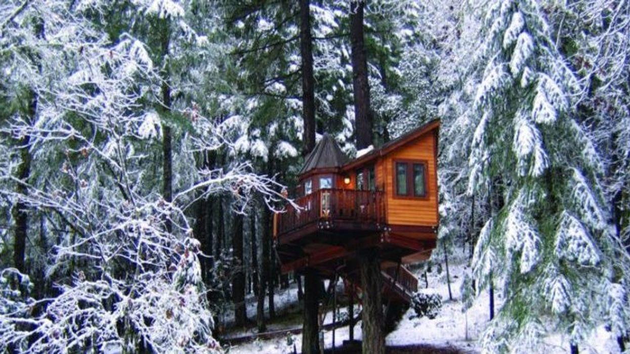 Tu peux louer cette maison dans un arbre pour le parfait weekend cet hiver!