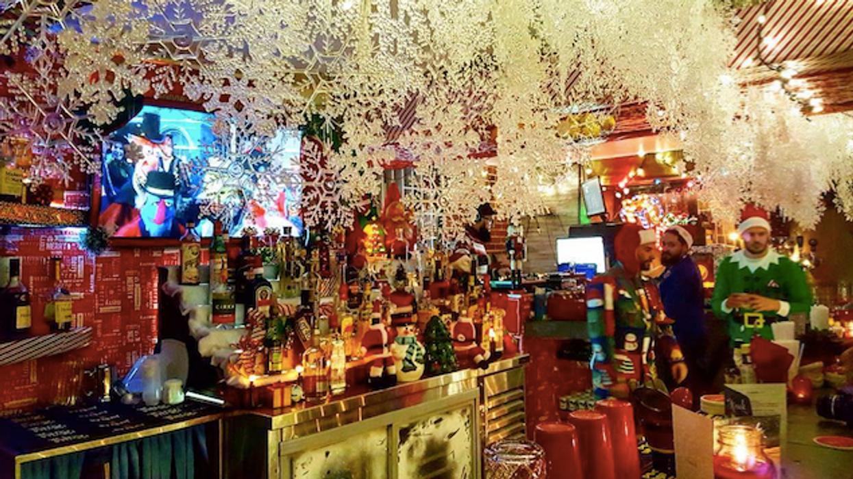 20 photos du magique bar de Noël éphémère de Montréal qui te donneront assurément le goût d'y aller