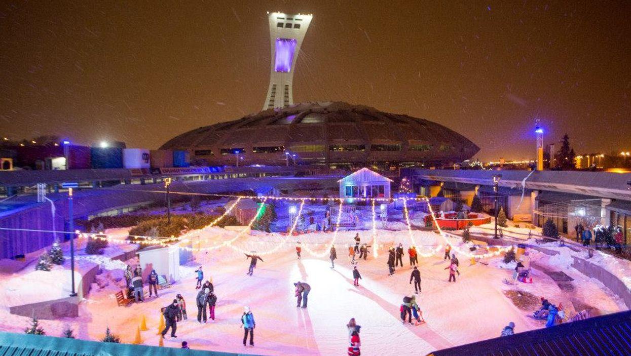Une patinoire extérieure géante sera installée au Stade olympique cet hiver