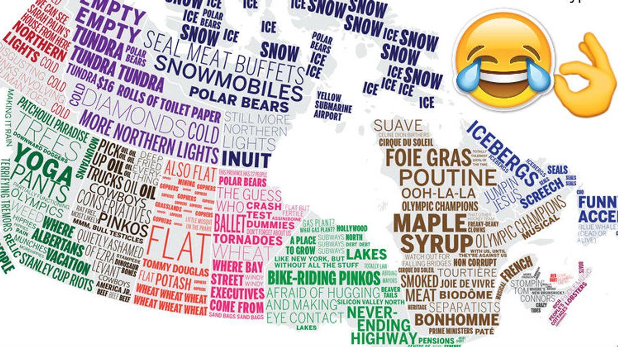Cette carte du Canada décrit si bien les stéréotypes de chaque province et c'est HILARANT!