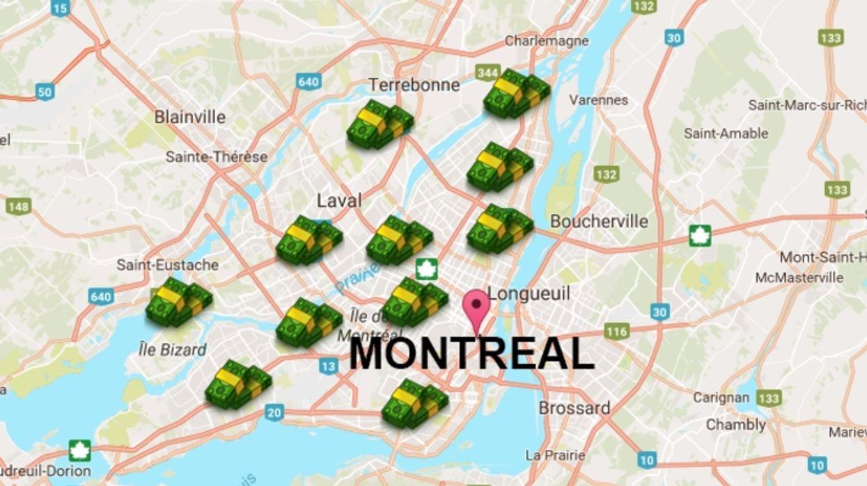 Des travailleurs donnent de l'argent gratuitement à Montréal