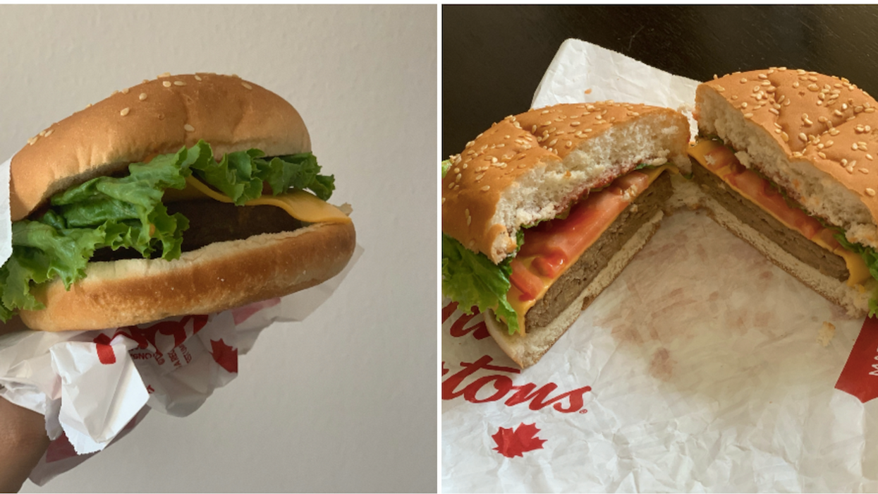 I Tried Tim Hortons' New Beyond Meat Burger And This Is My Honest Opinion