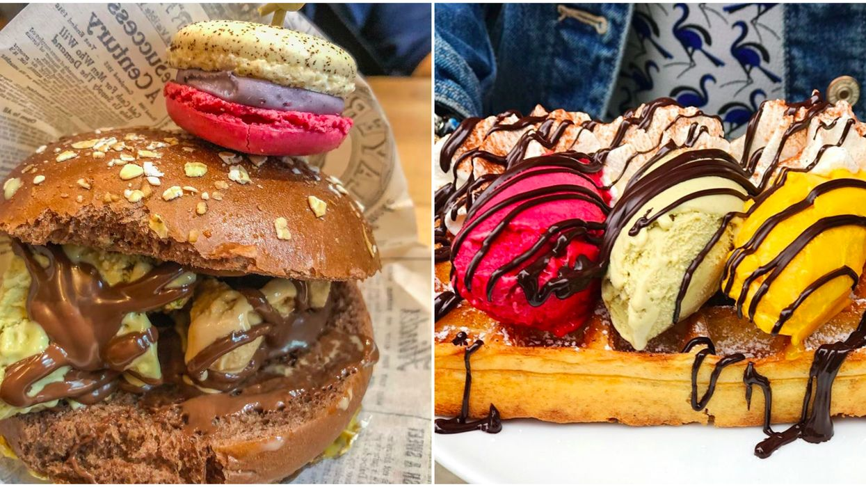 You Can Try A Heavenly Gelato Burger At This Crazy Dessert Shop in Fort Worth