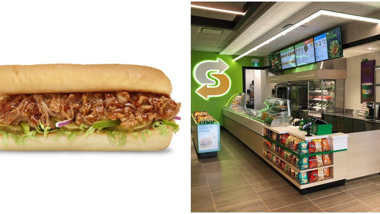 Subway Canada Now Has A BBQ Pulled Pork Sandwich & You'll Want To Order The Footlong