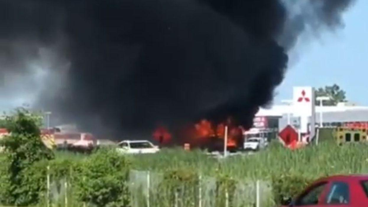 Dozens Of Children Hospitalized After School Buses Crash & Burst Into Flames (VIDEO)