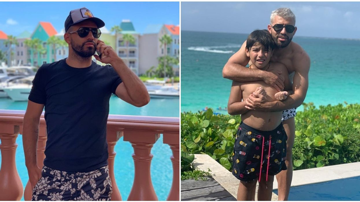 Soccer Star Sergio Aguero Was Just Spotted On Vacation In Miami