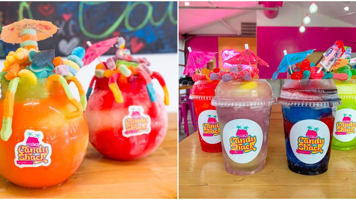 This Arlington Candy Shop Serves The Craziest Fishbowl Daiquiris You Need To Try This Summer