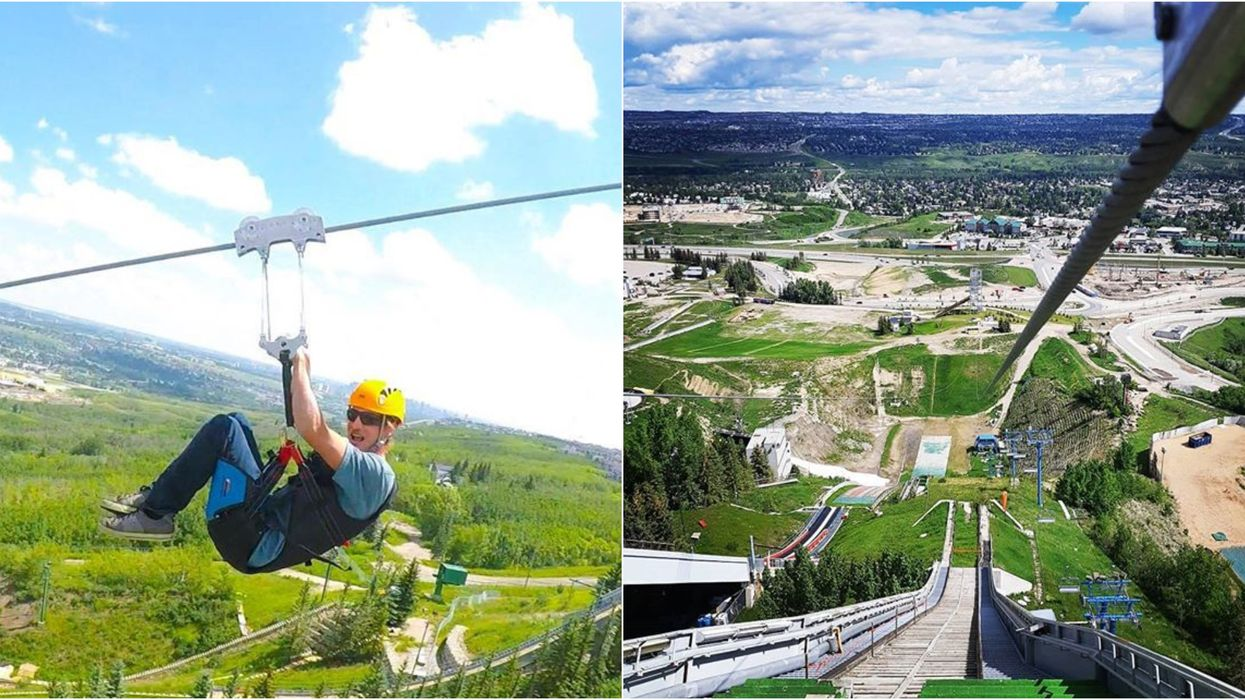 Calgary's Epic Monster Zipline Is The Fastest In North America & It's Only Open Until September
