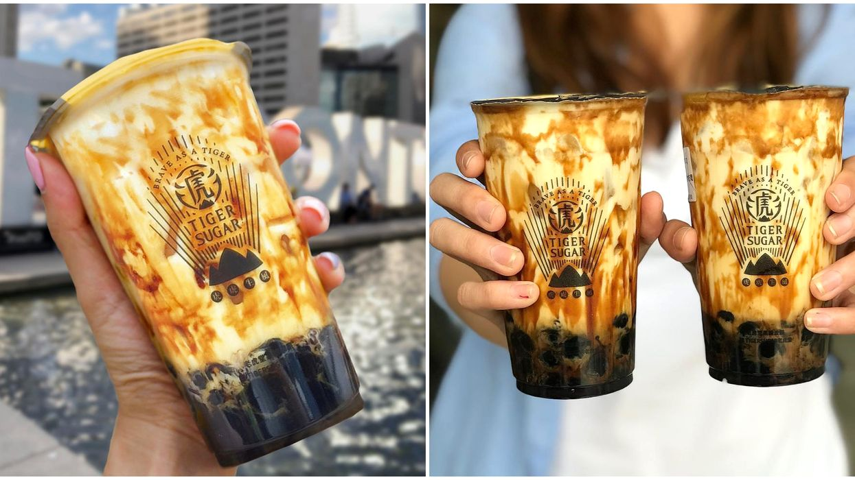 Taiwan's Famous 'Tiger Sugar' Bubble Tea Shop Just Opened Their First-Ever Store In Canada