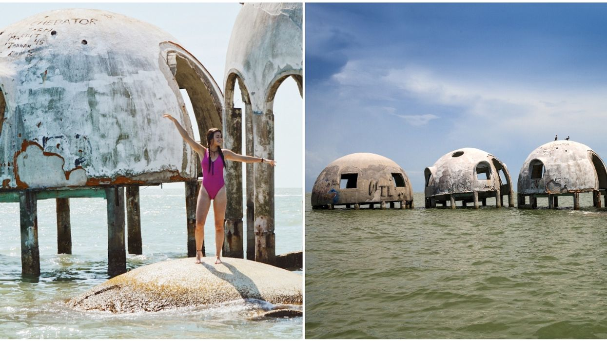 Mysterious Dome Buildings In South Florida Are Slowly Sinking Into The Ocean