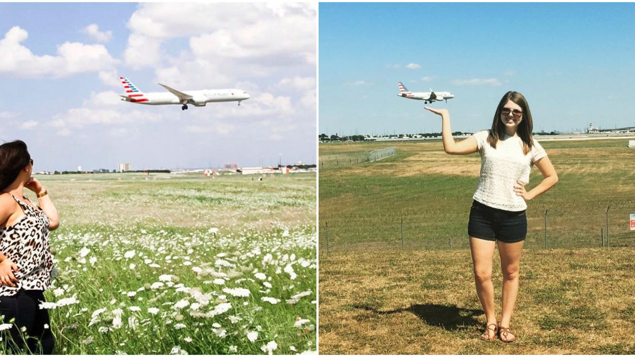This Hidden Plaza In Dallas Lets You Watch Airplanes Super Up Close