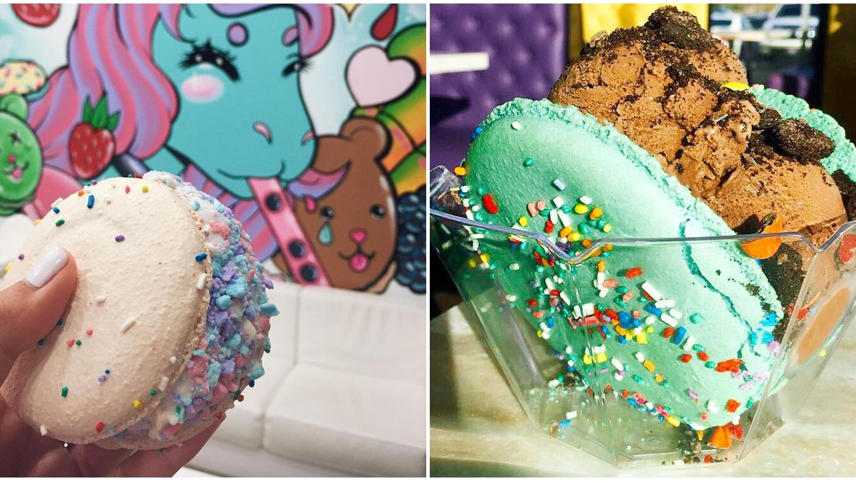 Macaron Ice Cream Sandwiches Are Totally A Thing At This Colorful Boba Shop In Central Florida