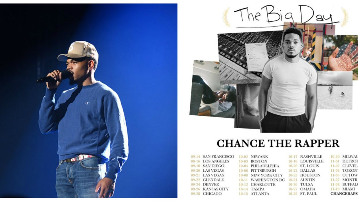 """Chance The Rapper Spelled """"Ottawa"""" Wrong In His Tour Announcement & Fans Have Definitely Noticed"""