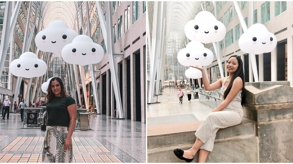 This Adorable Art Pop-Up Of Clouds In Toronto Will Brighten Up Your August